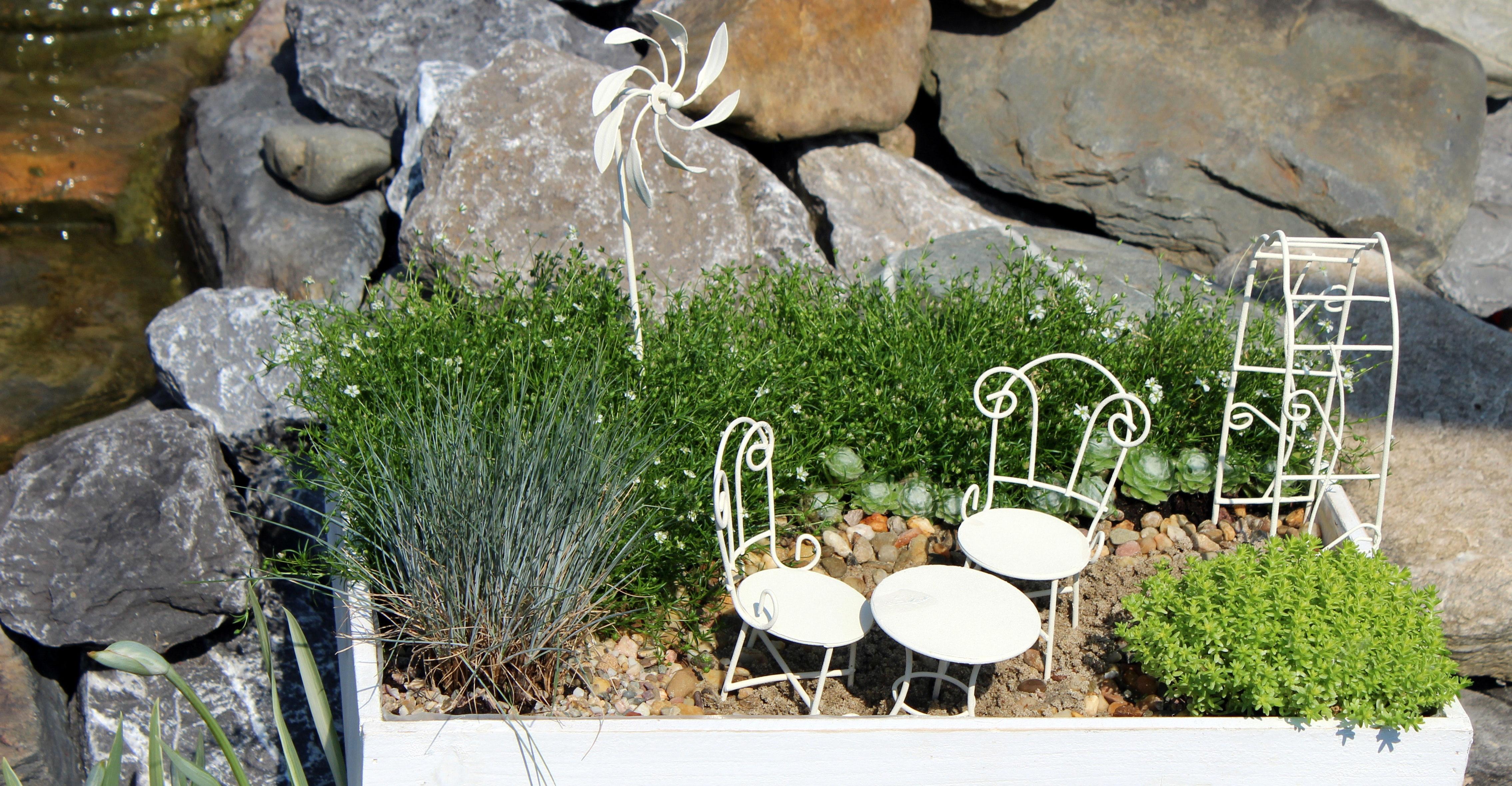 Minigarten windrad wei ca 22 cm mini garten - Miniatur gartenmobel ...