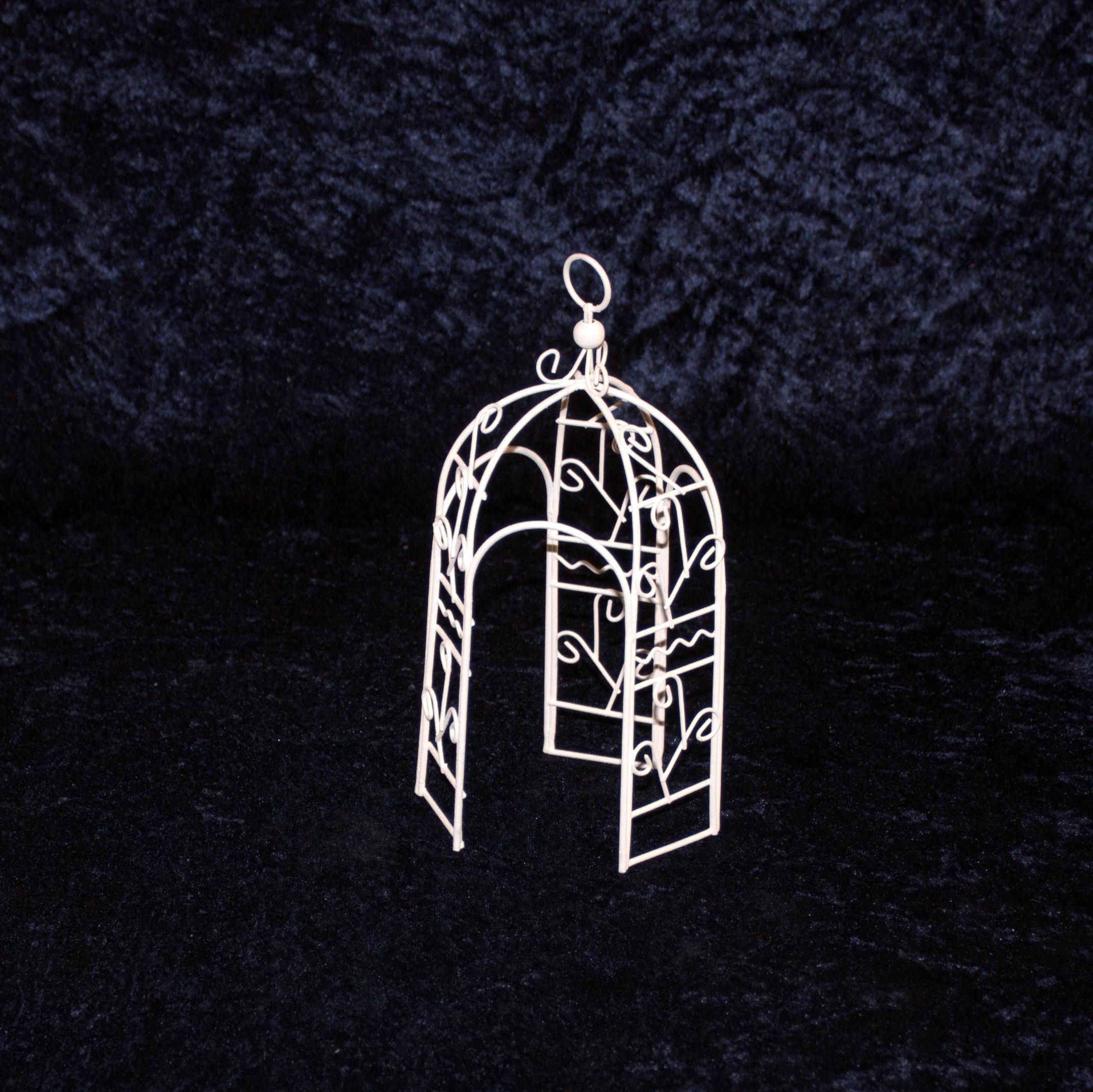 mini garten pavillon wei 20 cm minigarten miniatur gartenm bel metall selfkant krippen. Black Bedroom Furniture Sets. Home Design Ideas