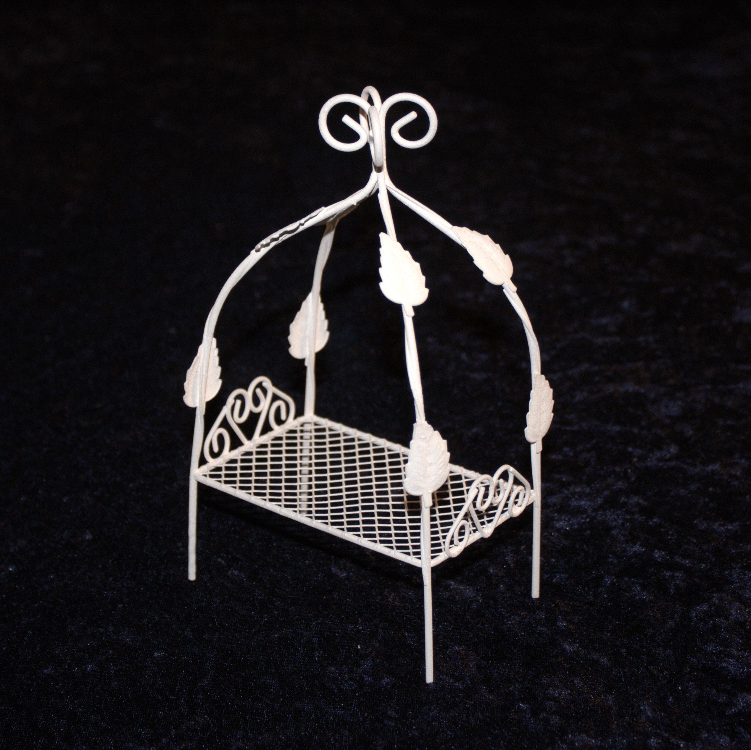 Mini garten himmelbett metallbett bett wei minigarten - Miniatur gartenmobel ...
