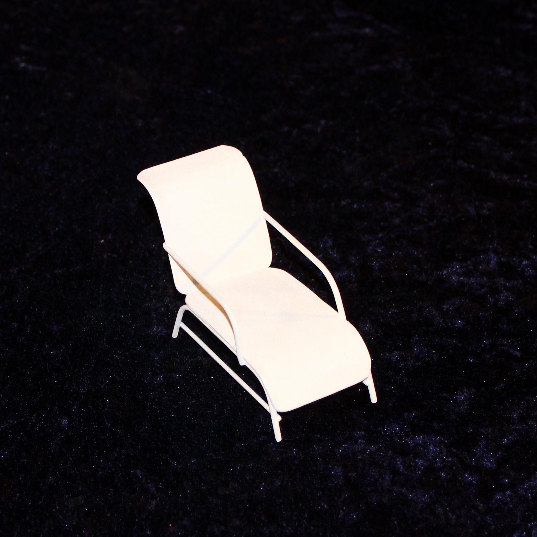 Mini garten liege liegestuhl wei minigarten deko miniatur gartenm bel metall - Miniatur gartenmobel ...